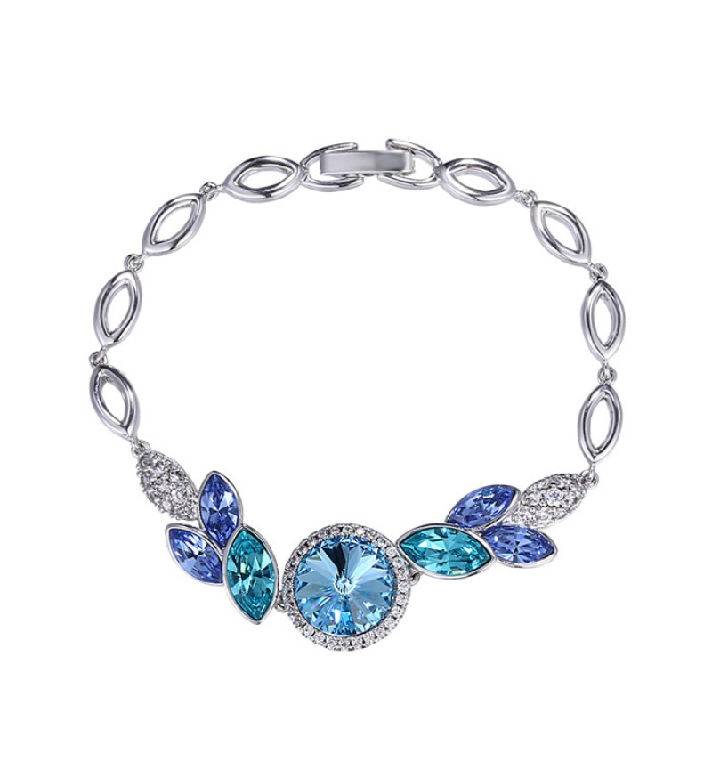 ПОЗОЛОЧЕННЫЙ БРАСЛЕТ С КРИСТАЛЛАМИ SWAROVSKI TENDERNESS BLUE