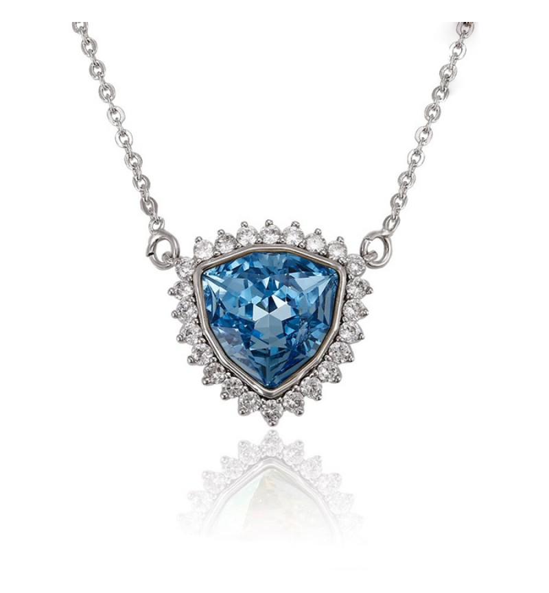 Позолочене КОЛЬЕ З КРИСТАЛАМИ SWAROVSKI Begin blue