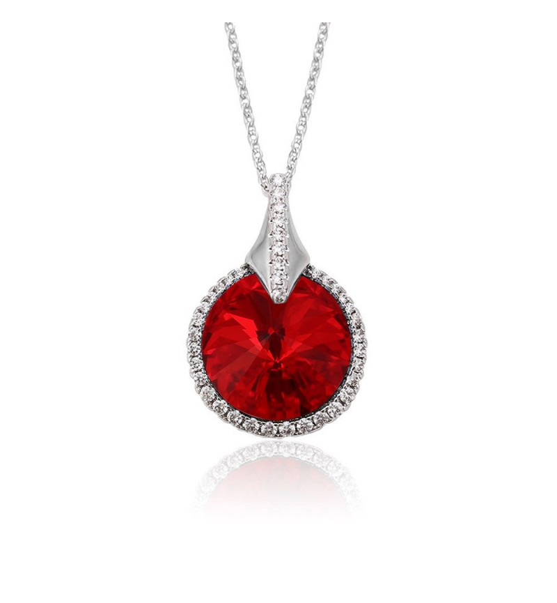 Позолочене КОЛЬЄ З КРИСТАЛАМИ SWAROVSKI HELEN red