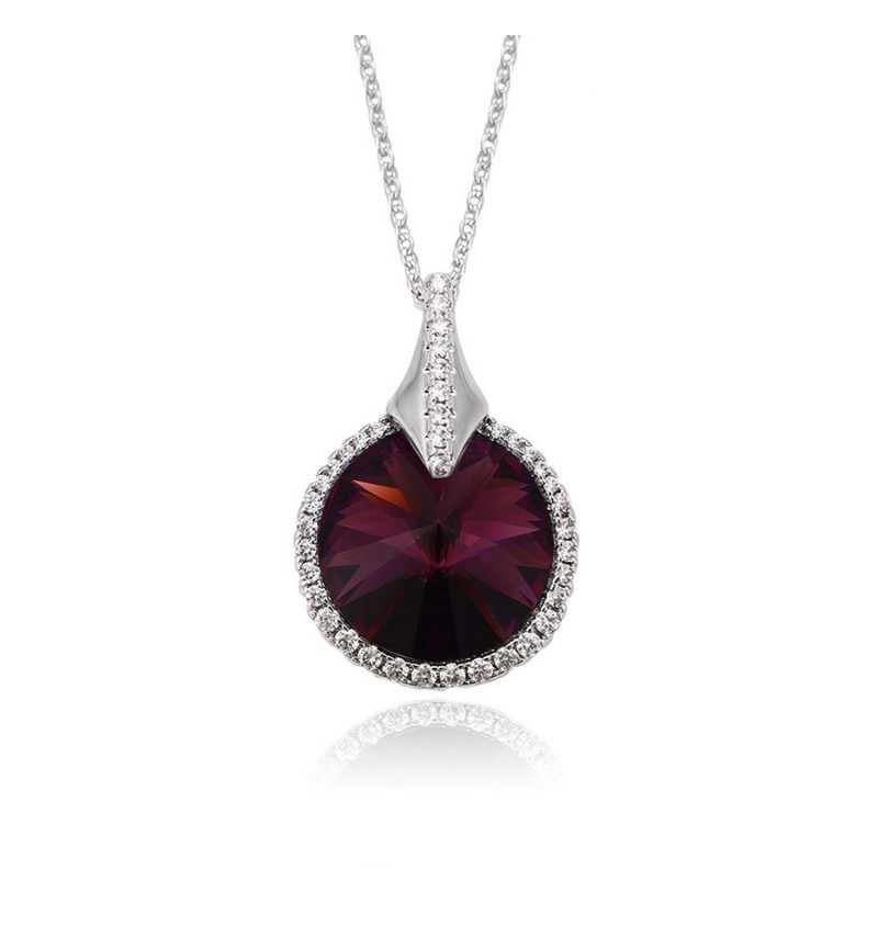 Позолочене КОЛЬЄ З КРИСТАЛАМИ SWAROVSKI HELEN purple