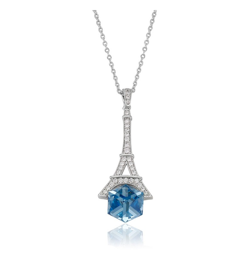 Позолочене кольє з кристалами SWAROVSKI Eiffel Tower
