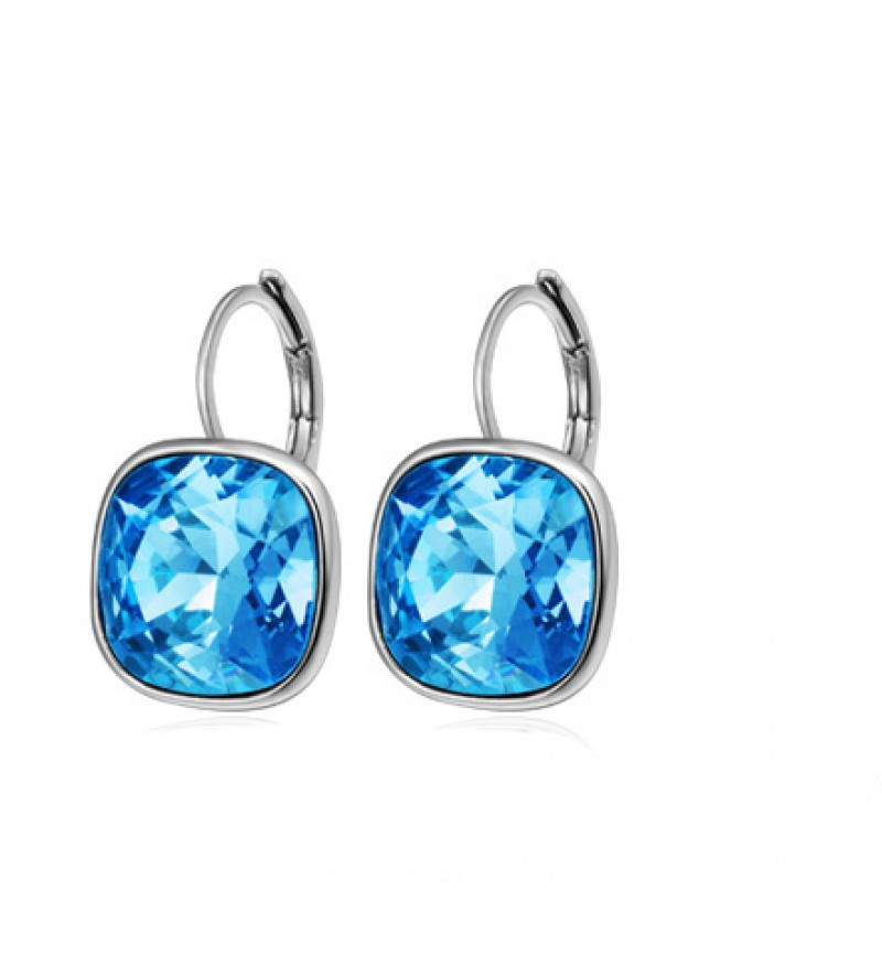 Позолоченные серьги с кристаллами SWAROVSKI bella rhodium blue